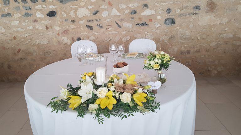 allestimento floreale ristorante matrimonio verona